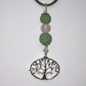 Jewelry - Tree of Life Lava Stone Necklace Diffuser